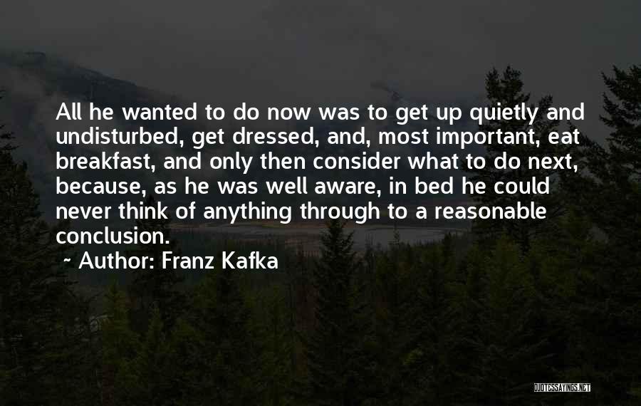 Undisturbed Quotes By Franz Kafka