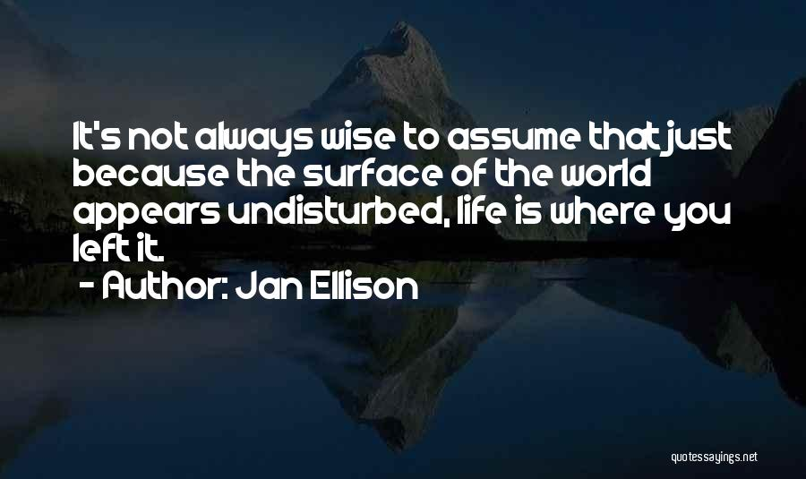 Undisturbed Quotes By Jan Ellison