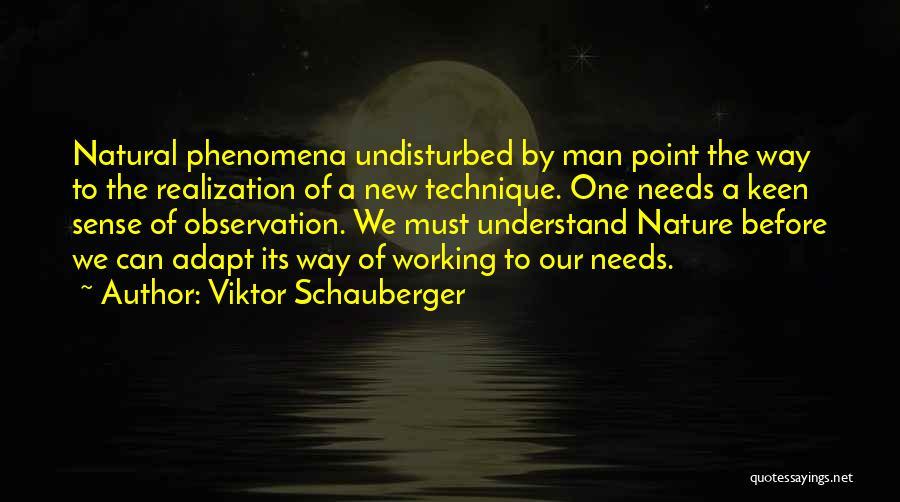 Undisturbed Quotes By Viktor Schauberger