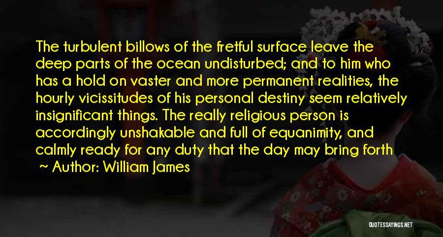 Undisturbed Quotes By William James