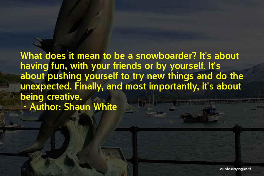 Unexpected Friends Quotes By Shaun White