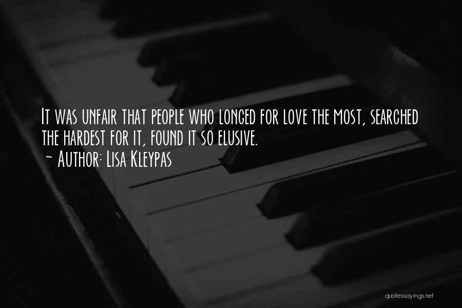Unfair Love Quotes By Lisa Kleypas