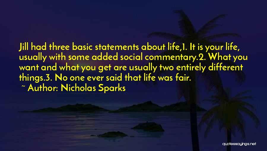 Unfair Love Quotes By Nicholas Sparks