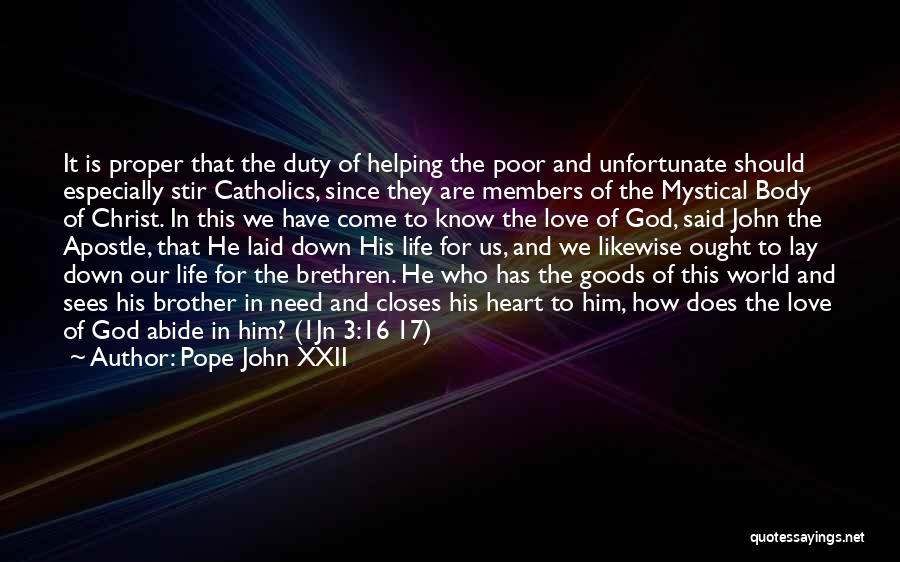 Unfortunate Love Quotes By Pope John XXII