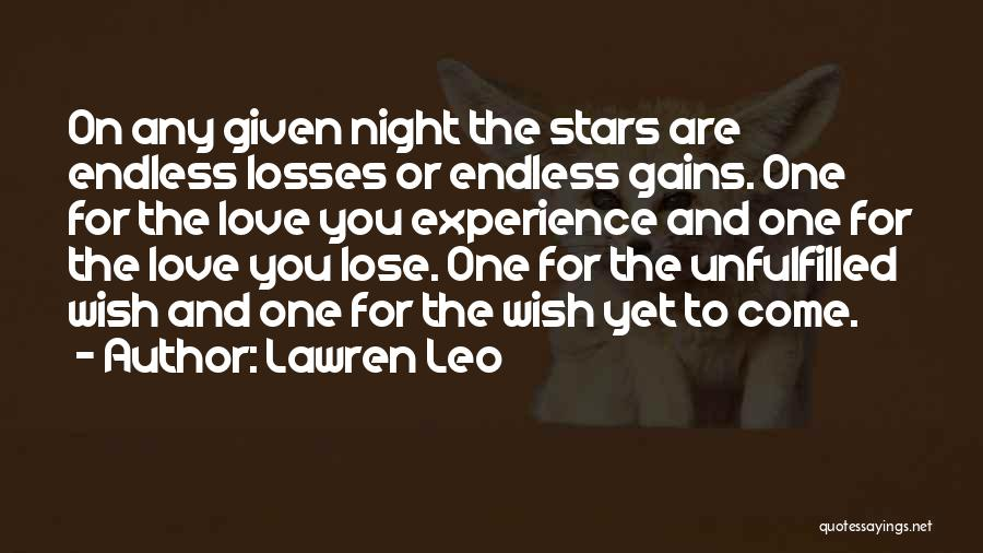 Unfulfilled Love Quotes By Lawren Leo