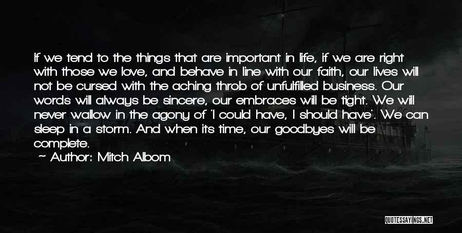 Unfulfilled Love Quotes By Mitch Albom