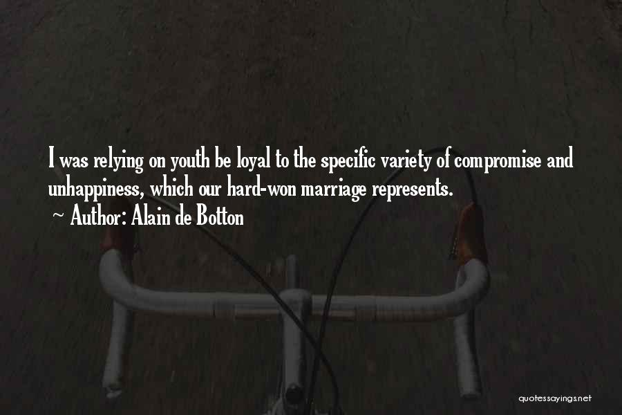 Unhappiness In Marriage Quotes By Alain De Botton