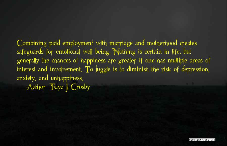 Unhappiness In Marriage Quotes By Faye J Crosby