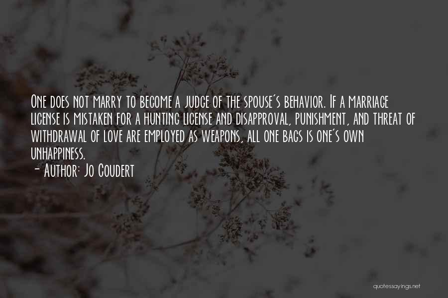 Unhappiness In Marriage Quotes By Jo Coudert