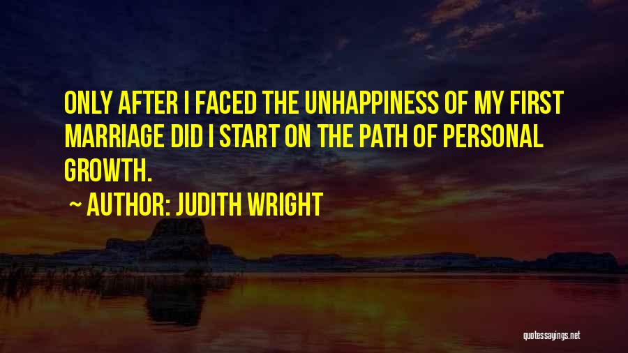Unhappiness In Marriage Quotes By Judith Wright