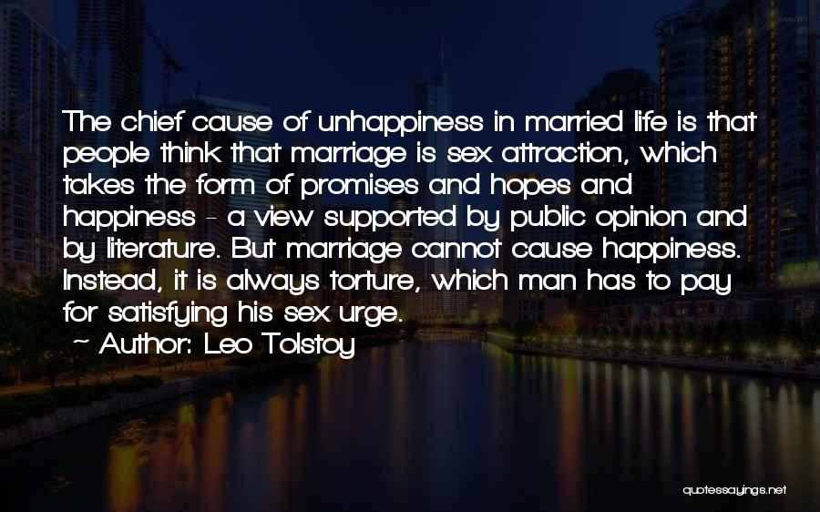 Unhappiness In Marriage Quotes By Leo Tolstoy