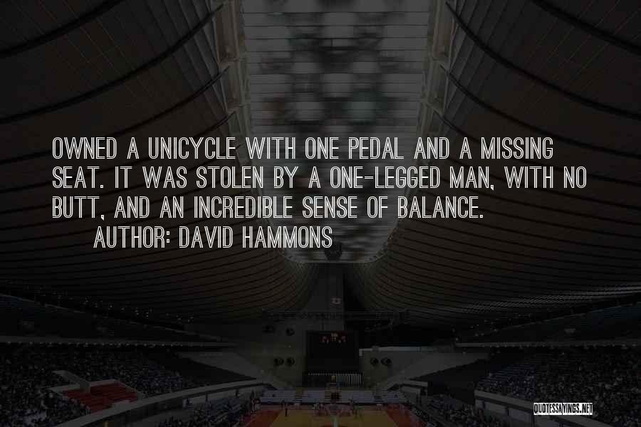 Unicycle Quotes By David Hammons