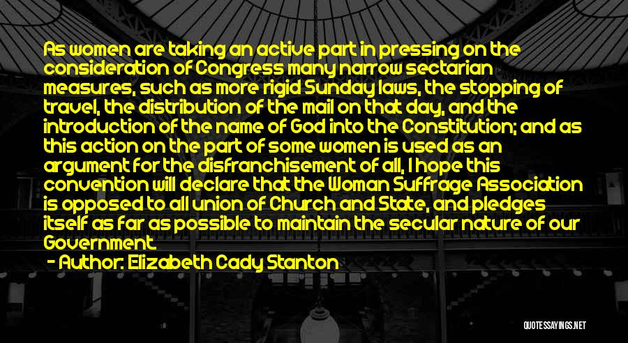 Union Quotes By Elizabeth Cady Stanton