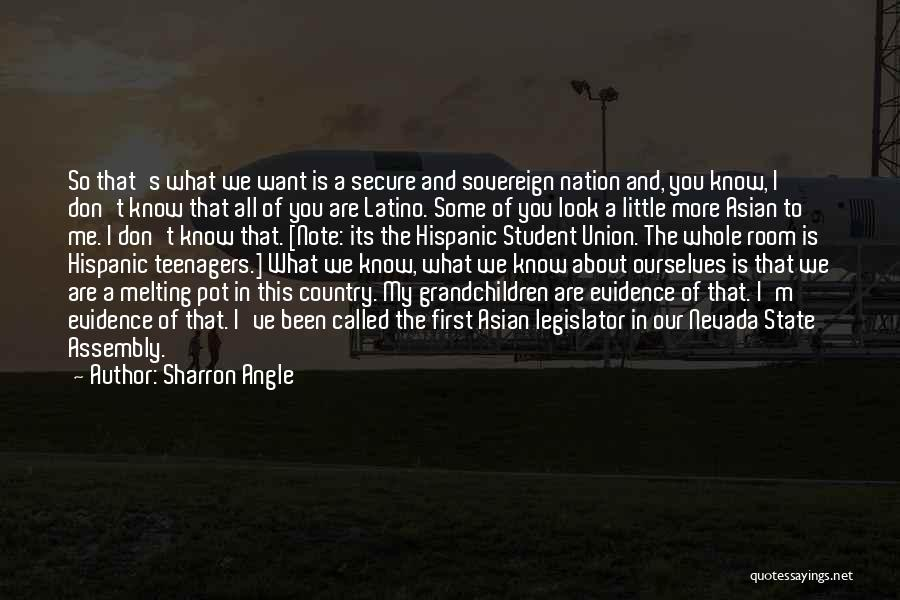 Union Quotes By Sharron Angle