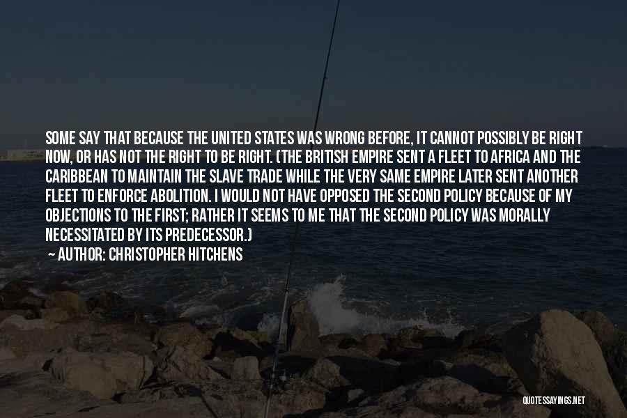 United States Of Africa Quotes By Christopher Hitchens