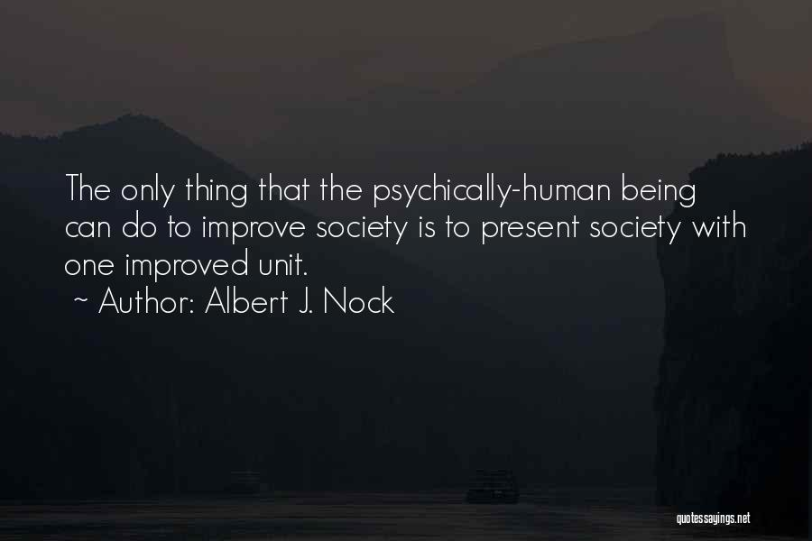 Units Quotes By Albert J. Nock