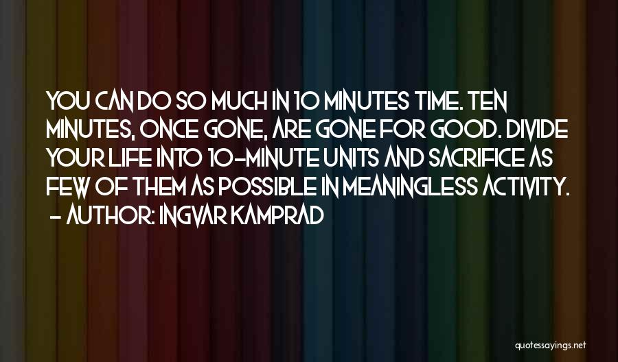 Units Quotes By Ingvar Kamprad