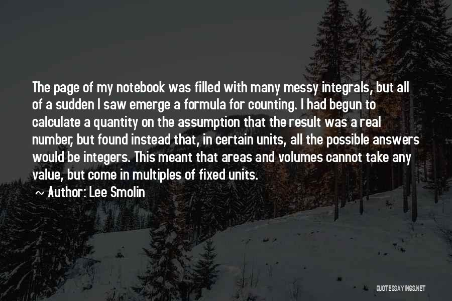 Units Quotes By Lee Smolin
