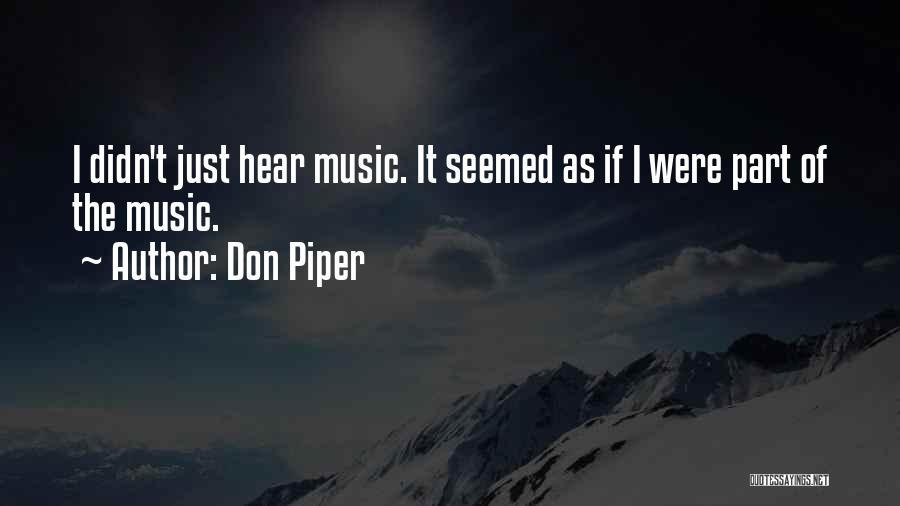 Unity And Music Quotes By Don Piper