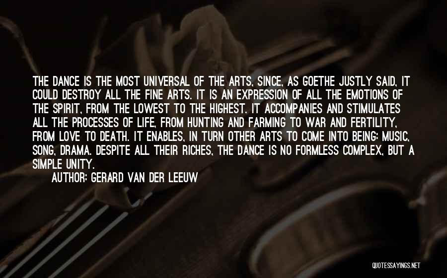 Unity And Music Quotes By Gerard Van Der Leeuw
