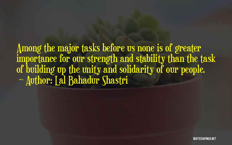 Unity Is Strength Quotes By Lal Bahadur Shastri