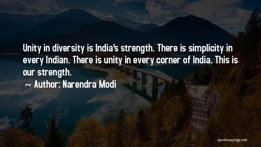 Unity Is Strength Quotes By Narendra Modi