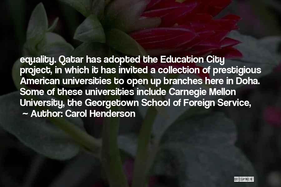 University Education Quotes By Carol Henderson