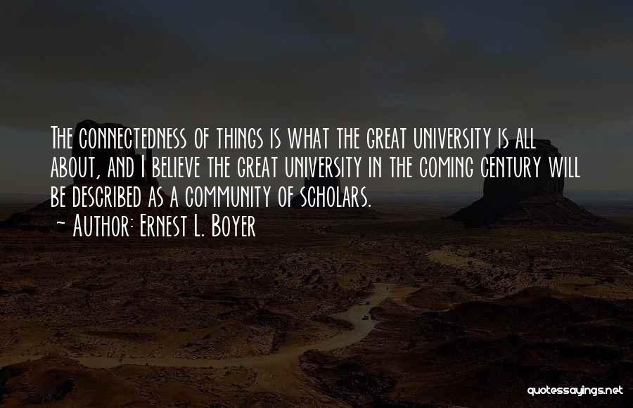 University Education Quotes By Ernest L. Boyer