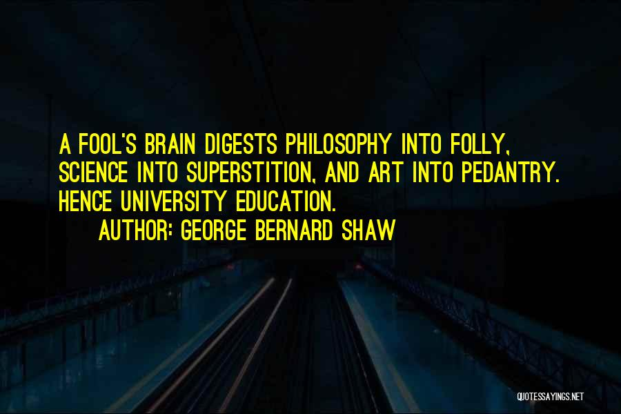 University Education Quotes By George Bernard Shaw
