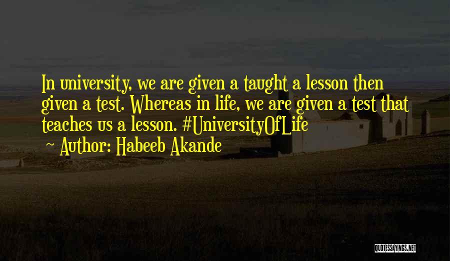 University Education Quotes By Habeeb Akande