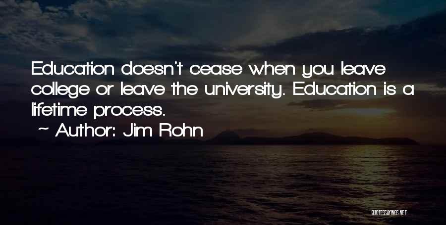 University Education Quotes By Jim Rohn