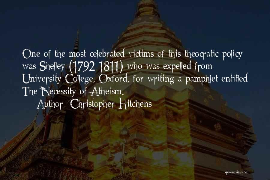 University Of Oxford Quotes By Christopher Hitchens