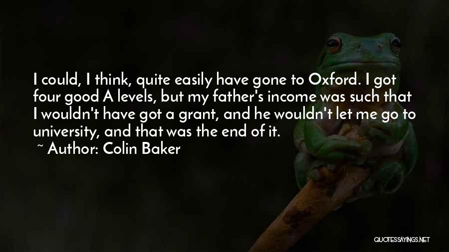 University Of Oxford Quotes By Colin Baker