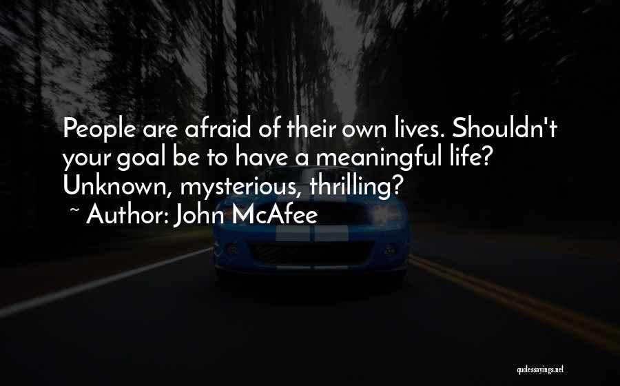 Unknown But Meaningful Quotes By John McAfee