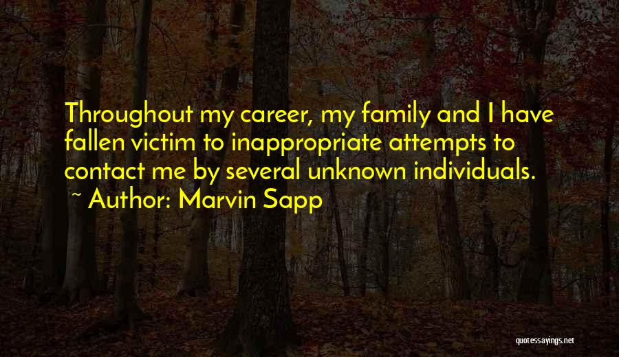 Unknown Family Quotes By Marvin Sapp