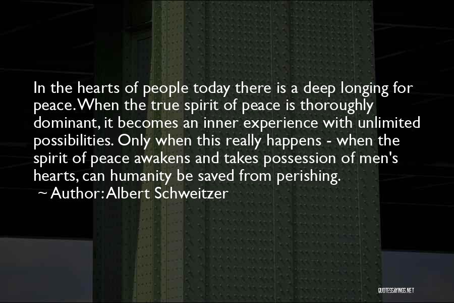 Unlimited Possibilities Quotes By Albert Schweitzer