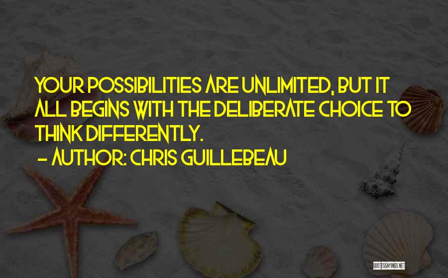 Unlimited Possibilities Quotes By Chris Guillebeau