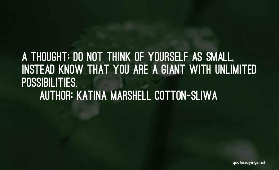 Unlimited Possibilities Quotes By Katina Marshell Cotton-Sliwa