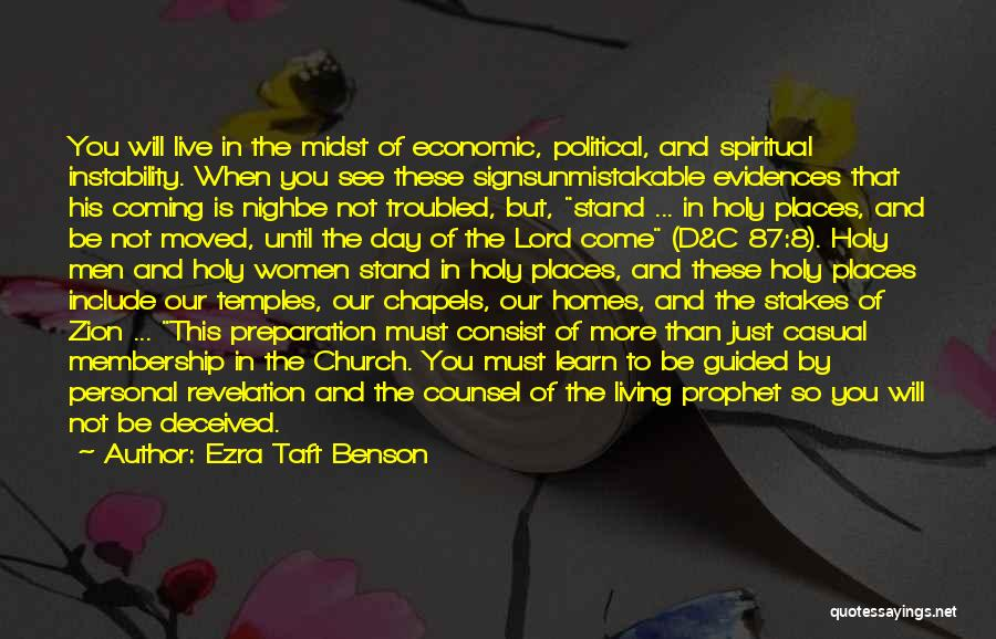 Unmistakable Quotes By Ezra Taft Benson