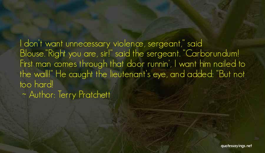 Unnecessary Violence Quotes By Terry Pratchett