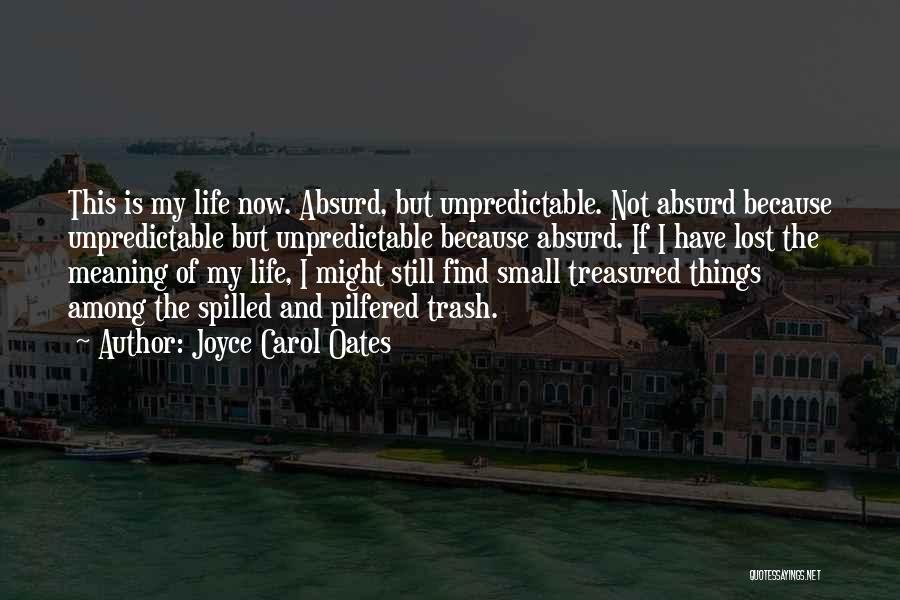 Unpredictable Life Quotes By Joyce Carol Oates