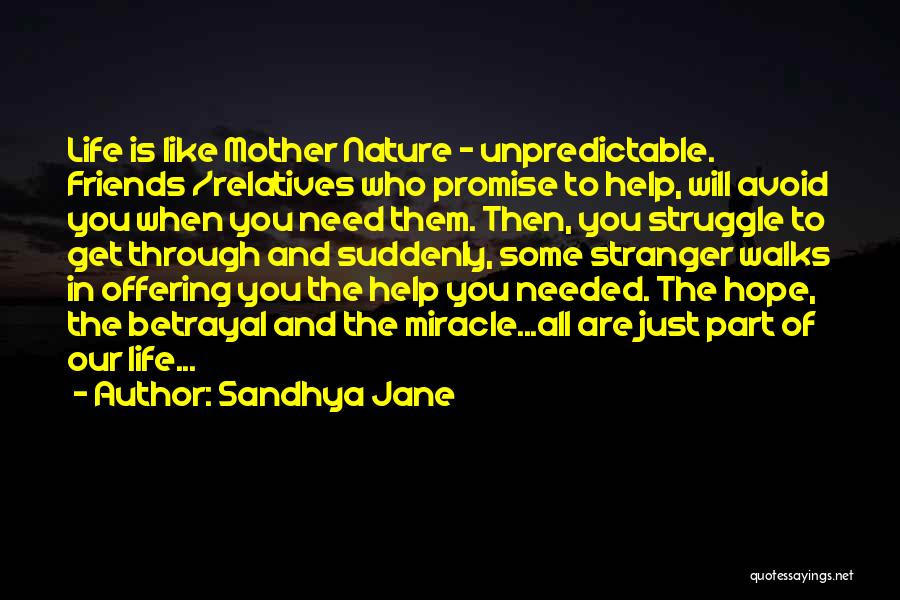 Unpredictable Life Quotes By Sandhya Jane
