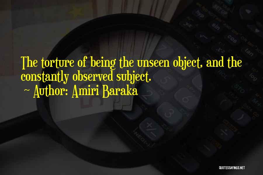 Unseen Pain Quotes By Amiri Baraka