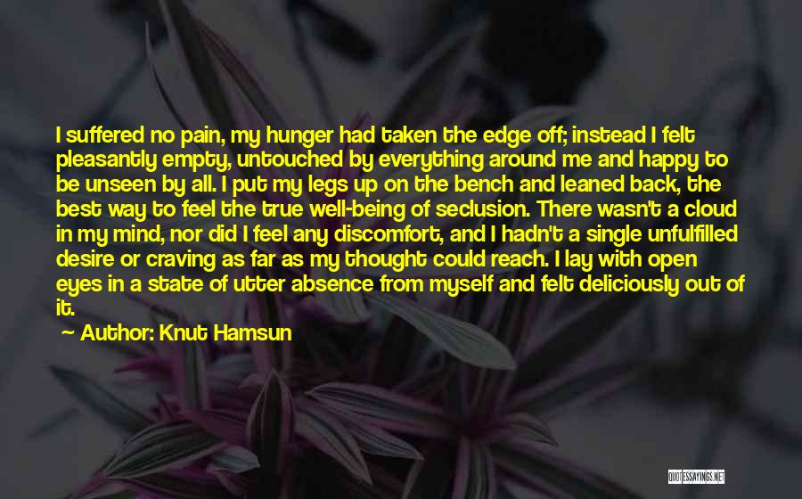 Unseen Pain Quotes By Knut Hamsun