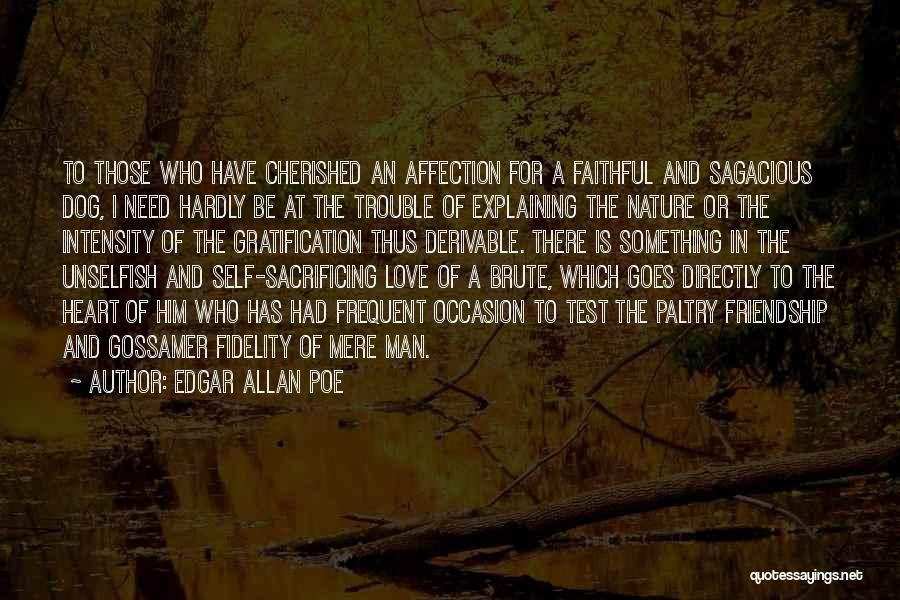 Unselfish Love Quotes By Edgar Allan Poe