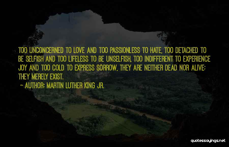 Unselfish Love Quotes By Martin Luther King Jr.