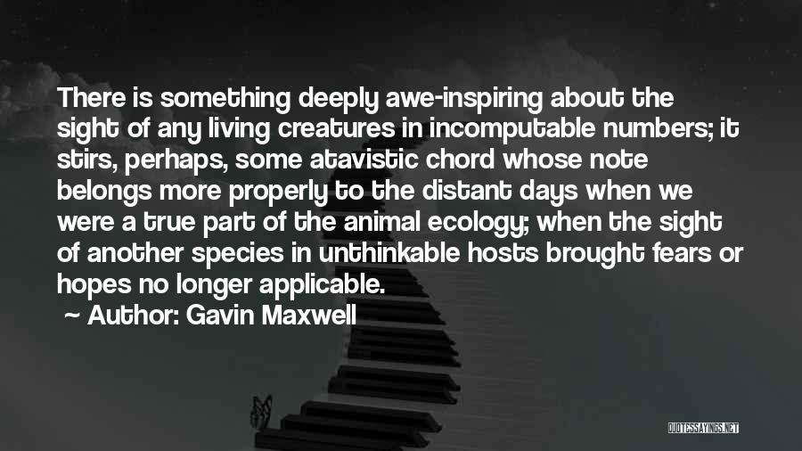 Unthinkable Quotes By Gavin Maxwell