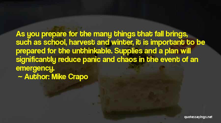 Unthinkable Quotes By Mike Crapo