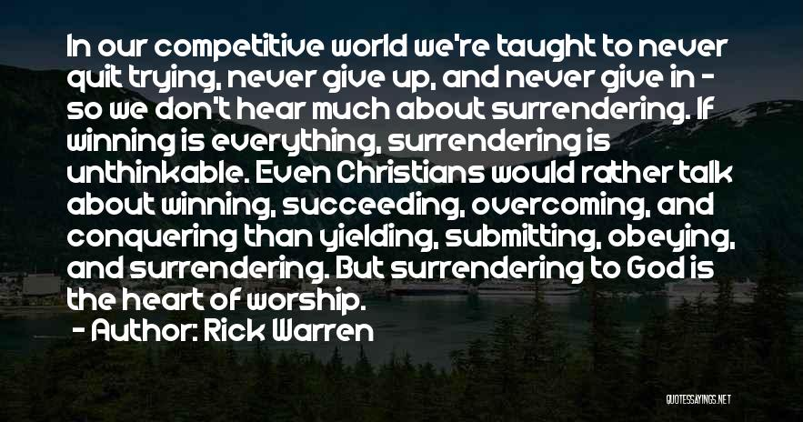 Unthinkable Quotes By Rick Warren