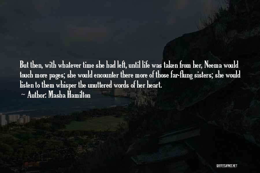 Until Then Quotes By Masha Hamilton